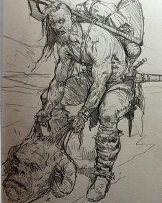 Barbarian #sketching sketchbook vol1 available here http://karlkopinski.com/collections/shop/products/sketchbook-vol-1-karl-kopinski-collected-sketches