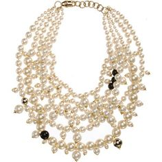 Givenchy Multi Pearl Necklace
