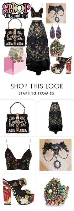 """""""A Shopping We Will Go!"""" by shirley-de-gannes ❤ liked on Polyvore featuring Dolce&Gabbana, Eavis & Brown, Rare London, FAUSTO PUGLISI and Sweet Romance"""