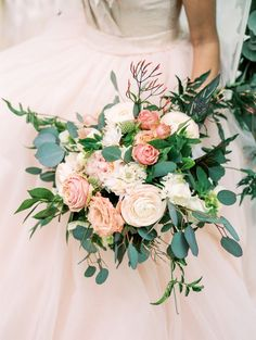 pink wedding flowers - photo by Rodeo & Co. Photography http://ruffledblog.com/vendors/rodeo-co-photography/