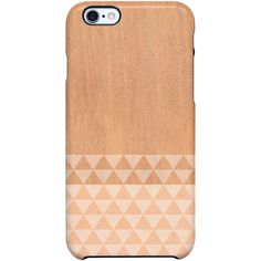 Uncommon Wood Stripe Angles iPhone 6 TS Deflector Case ($29) ❤ liked on Polyvore featuring accessories, tech accessories and multi