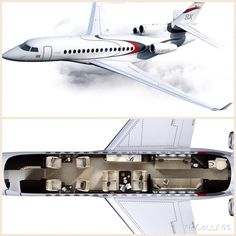 With eight passengers and three crew, the Falcon will be capable of flying – Jet Luxury Jets, Luxury Private Jets, Private Plane, Dassault Falcon 7x, Helicopter Cockpit, Executive Jet, Private Jet Interior, Eight Passengers, Aircraft Interiors