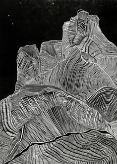 Hilary Lorenz linoleum print
