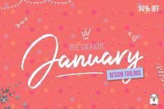 New Font Bundle By TheHungryJPEG - Gigantic January Bundle