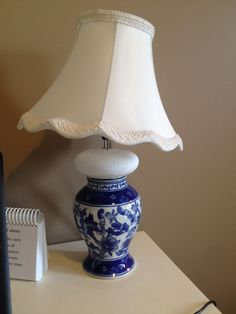 Do you have a vase you love and don't know what to do with? Create your own lamp. Simply hot glue a small table lamp to the vase and paint the lamp to match. Add a shade and you are done. Great vases and lamps found at thrift stores.