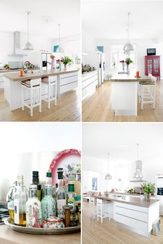 white danish home with colorful accents | THE STYLE FILES