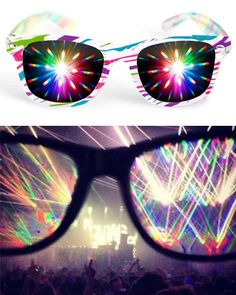 Diffraction glasses. http://www.sickraveclothing.com/diffraction-glasses/ #raves #glasses