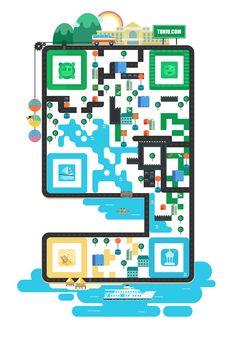你的二维码看起来很流弊——如何设计创意二维码 技巧 原创/自译教程 超级英雄鸟鸟侠 - 设计文章/教程分享 - 站酷 (ZCOOL)