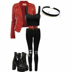 """Like my look? Tag someone who would wear it. Taehyun """"EXIT MOVEMENT"""" Teaser V. 1 Every good girl has a bad girl side. It just depends if her partner knows how to awaken the beast. Bad Girl Outfits, Teenager Outfits, Teen Fashion Outfits, Swag Outfits, Cute Casual Outfits, Outfits For Teens, Biker Outfits, Fashion Dresses, Shadowhunters Outfit"""