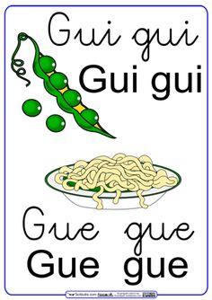 """Fichas para el sonido """"gue, gui"""": Palabras usadas en las actividades: Guisante, espaguetis, águila, aguilucho, manguitos, guinda, siguiente, guía, anguila, guita, guisantesm guiso y despegue . Puedes colaborar añadiendo más palabras a través de los comentarios, con las que ampliaremos los ejercicios de lectoescritura. La letra """"gue-gui"""" incluye también las …"""