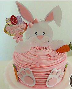 Easter Bunny Cake, Bunny Birthday, Birthday Cupcakes, Pastel Mickey, Princess Cookies, Spring Cake, Cupcake Display, Minnie Mouse Cake, Buttercream Icing