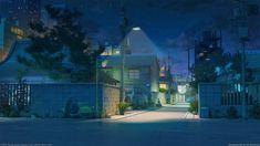 ArtStation Japan street night Arseniy Chebynkin Scenery background Anime backgrounds wallpapers Scenery wallpaper