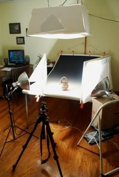 set up for pottery photography