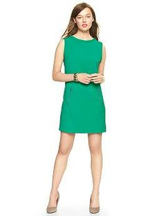 Moto shift dress - Gap This is the perfect all season dress.  It would look great with boots & a chunky knit scarf or heels & a little dinner jacket. Endless possibilities.