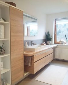 45 Fascinating Rustic Storage Ideas For Bathroom Bathroom Furniture, Bathroom Interior, Modern Bathroom, Home Furniture, Small Bathroom, Kitchen Interior, Bathroom Ideas, Interior Rugs, Living Room Interior