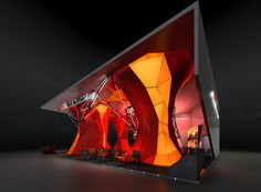 """""""Red Mountain Energy"""" company exhibition stand concept."""