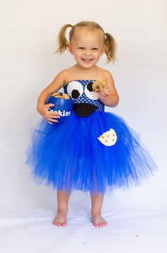 GIRLS Cookie Monster Inspired Tutu Tulle by OurSweetSomethings4U, $35.00