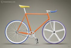 Fixie no brakes in constant motion an expression of simplicity. One of the inspirations of the Merkhit watch.