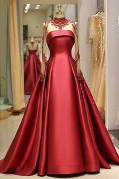 Prom Dress For Teens, 2019 Long Sleeve Prom Dresses High Neck Burgundy Long Prom Dress Satin Evening Dress, cheap prom dresses, beautiful dresses for prom. Best prom gowns online to make you the spotlight for special occasions. Prom Dresses Long With Sleeves, Ball Dresses, Ball Gowns, Formal Dresses, Red Formal Gown, Prom Dresses Long Open Back, Prom Dresses For Teens, Black Prom Dresses, Long Dresses