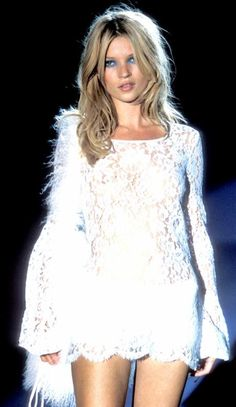 kate moss. Beautiful lace dress