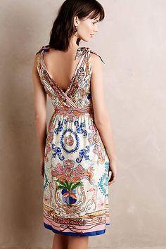 Tied Acionna Silk Dress - anthropologie.com #anthrofave #anthropologie