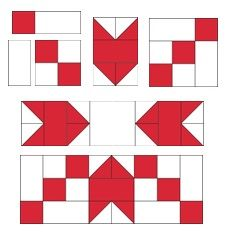 Block two for the 2017 Christmas Countdown. Christmas Quilt Patterns, Barn Quilt Patterns, Pattern Blocks, Christmas Quilting, Christmas Blocks, Christmas Tables, Quilt Blocks Easy, Modern Quilt Blocks, Star Blocks