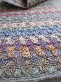 Sophie Digard, Scarf, merino, crochet, french, mosaic