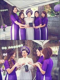 Purple Vietnamese Wedding Ao Dai - Photography by Derick Le Studio