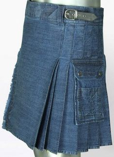 Looking for the most excellent utility kilt? Blue Denim Kilt is the right option. kilts for sale, kilts for men Colored Denim, Blue Denim, Cheap Kilts, Kilts For Sale, Modern Kilts, Utility Kilt, Men In Kilts, Denim Fabric, Casual Looks