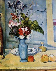 The Blue Vase , Paul Cezanne