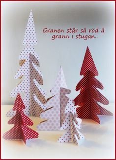 Christmas Trees made of colourful paper - simple and beautiful Christmas-craft! Beautiful Christmas, Christmas Crafts, Christmas Trees, Personalized Gifts, Origami, Wraps, Paper Crafts, Gift Wrapping, Sewing