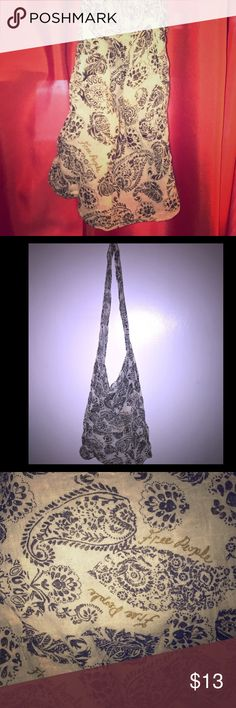 NEW FREE PEOPLE-Cloth/Intimates/Dust Paisley Bag! New-FREE PEOPLE-Cloth/Intimates/Dust Paisley Bag! 😍💖 Never used! Super cute! Very thin material. No stains, odors, pulls or tears! Pet/Smoke Free Home! Very unique!! Bundle & Save!! Free People Bags