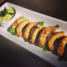 Baked Avocado Fries are out of this world! So many yummy healthy recipes on Healthy Momma!!