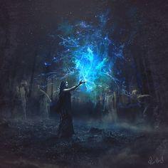 "dreamingofsymphonies: "" In Salem's Night by Pierre-Alain D. ———————————- Art & Nature """