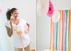 Tropische Babyparty | mummyandmini.com  babyparty girl  Fotos: Barbara Meyer Selinger Deko, Konzept und Sweet Table: Für Immer Deins Papeterie: Farbgold
