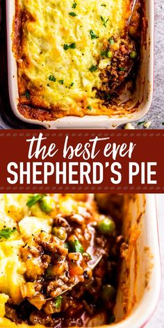 Homemade shepherd's pie is the ultimate comfort food. This simple recipe is made completely from scratch like the traditional, but uses ground beef instead of lamb for a more budget friendly family meal. Filled with healthy vegetables and super comforting Healthy Dinner Recipes For Weight Loss, Healthy Recipes, Vegetarian Recipes, Simple Recipes For Dinner, Ground Beef Recipes For Dinner, Winter Dinner Recipes, Simple Fall Recipe, Ground Beef Recipes Simple, Ethnic Food Recipes