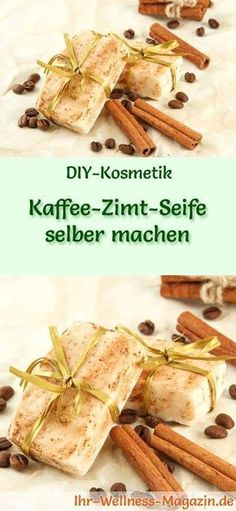 Kaffee-Zimt-Seife selber machen - Seifen-Rezept & Anleitung DIY Soap Recipe: Make Coffee-Cinnamon Soap Yourself - The scents of coffee and cinnamon complement each other perfectly! Coffee and cinnamon Make Your Own Coffee, Making Coffee, Diy Fragrance, Diy Beauté, Coffee Soap, Diy Hair Care, Cinnamon Recipes, Homemade Soap Recipes, Recipe Instructions