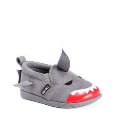 Muk Luks Kids' Finn The Shark Slip On Toddler/Preschool Shoes (Grey)
