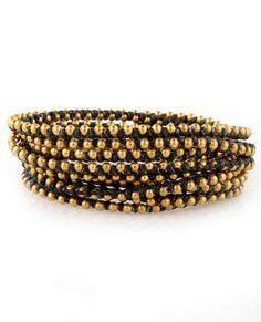 #DIY beaded wrapped bracelet
