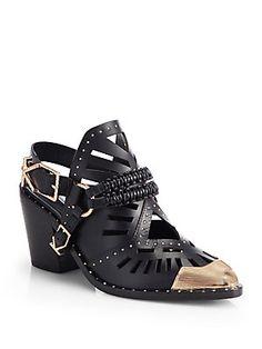 Mmmmm: Ivy Kirzhner Aguila Leather Embellished Ankle Boots