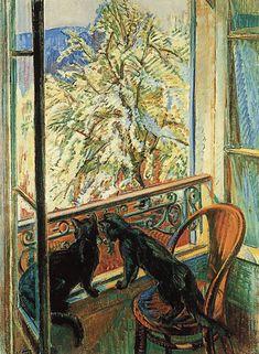 Cats by the Window  -  Nicolas Tarkhoff 1909  Russian 1871-1930  Oil on canvas  Musée du Petit Palais - Geneva  (Switzerland - Geneva)