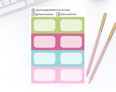 Stylish and Elegant Planner Stickers by MistrunnerPrints Personal Planners, Mini Hands, Weekly Planner, Planner Stickers, Diy And Crafts, How To Draw Hands, Etsy Seller, Icons, Kit