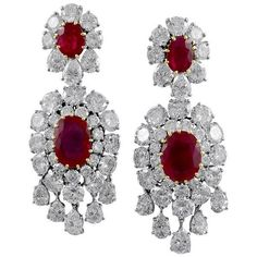 Important Van Cleef Arpels Paris Burma Ruby Diamond Earclips ❤ liked on Polyvore featuring jewelry, ruby jewelry, ruby pendant, red jewelry, red pendant and red diamond jewelry