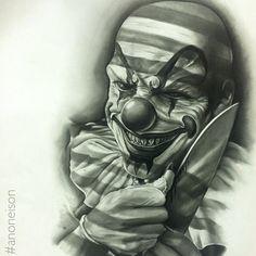 Behind The Scenes By art_spotlight Clown Tattoo, Prison Art, Halloween Tattoos, Drawings, Chicano Art Tattoos, Tattoo Design Drawings, Street Tattoo, Jester Tattoo, Evil Clown Tattoos