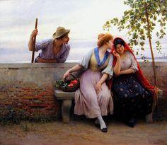 Pintura: Eugene von Blass.