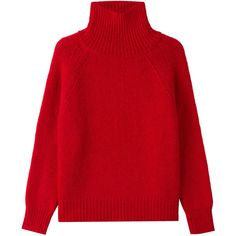 Vanessa Bruno Turtleneck Pullover found on Polyvore featuring tops, sweaters, blusas, red, polo neck sweater, oversized pullover, turtleneck sweater, red turtleneck sweater and sweater pullover