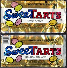 Canada - Sunmark - O-Pee-Chee - Sweetarts foil candy package I remember when they looked like this.