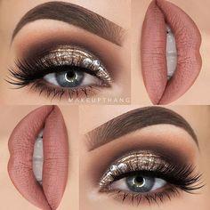 "Diamonds are a girls best friend... right? --- @anastasiabeverlyhills @norvina Dipbrow Pomade ""Chocolate"" and Modern Renaissance palette ""Burnt Orange"", ""Cyprus Umber"" and ""Raw Sienna"" ✖️ @makeupstore Loose Glitter ""Blue Moon"" ✖️ @eyerisbeauty @wakeupandmakeup ""Sriracha"" lashes ✖️ @makeupforeverofficial Star Lit Liquid ""03"" ✖️ @renegadecosmetics Lipstick ""Ransom"" ✖️ #anastasiabeverlyhills #anastasiabrows #wakeupandmakeup #makeupforever #morphegirl #urbandecay #renegade"