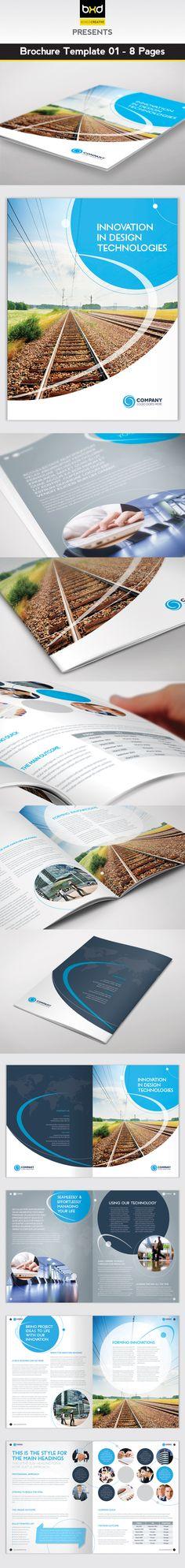 Modern Architecture Brochure Brochure template, Modern - corporate brochure template