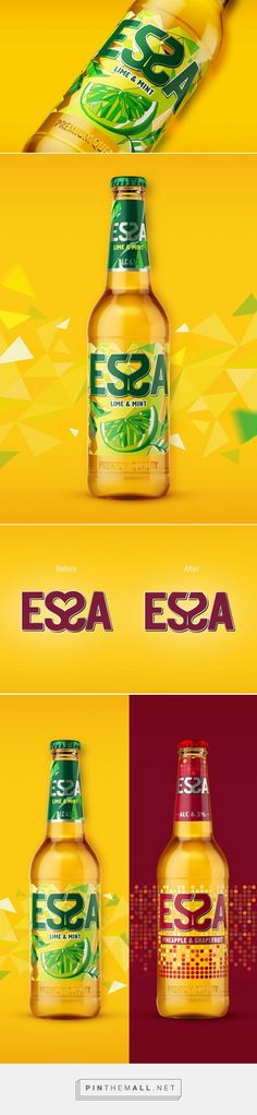 Essa Lime&Mint - Packaging of the World - Creative Package Design Gallery - http://www.packagingoftheworld.com/2017/03/essa-lime.html
